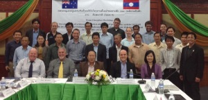 Workshop participants on day 1 of the 2-day meeting in Vientiane.
